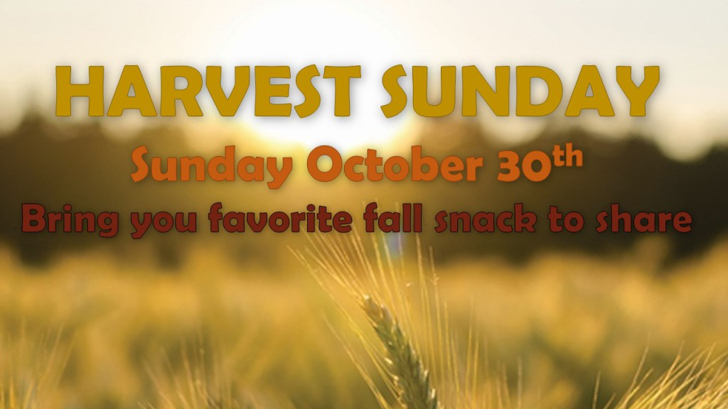 Harvest Sunday Marketing Slide- ao 9-1-16