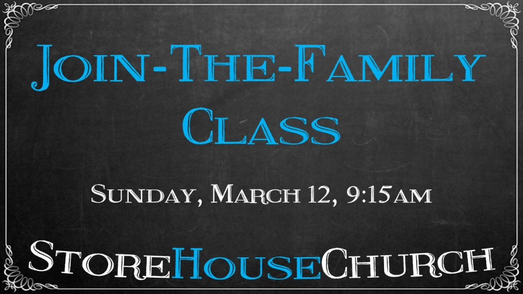 Join the Family Class - Mar 12 2017